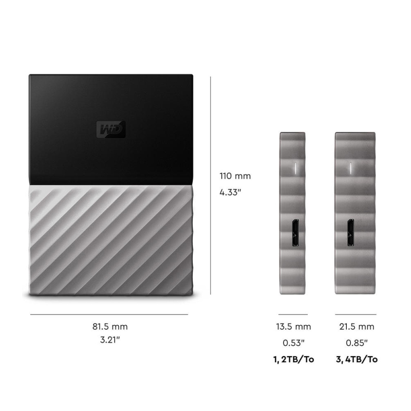 US $99 99 30% OFF|WD My Passport Ultra Portable External Hard Drive 1TB 2TB  Disk USB 3 0 Encryption 1T 2T HDD HD Harddisk Storage Device -in External