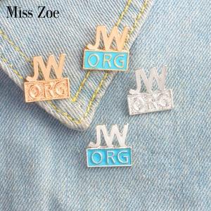 JW.ORG эмалированная булавка, синяя брошь в стиле «мстители», значки на заказ, булавка на отворот, джинсовая рубашка, одежда Кепка, подарочный п...