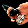 11*5 см Большой Стекло Прикладом Плагин Фаллоимитатор Анальные Шарики G-Spot Стимулятор Массажер Кристалл Секс Игрушки Для женщина Мастурбация Секс Продукта H6155