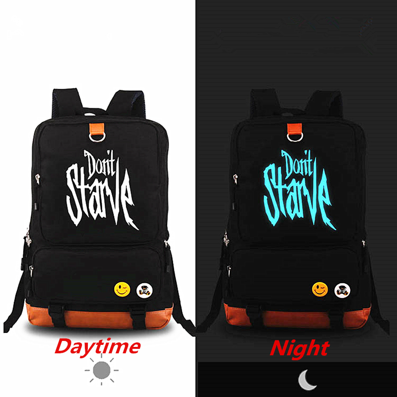 New Arrival Don't Starve Luminous Printing Backpack Klei Do Not Starve Rucksack Fashion School Bags for Teenagers Laptop bag
