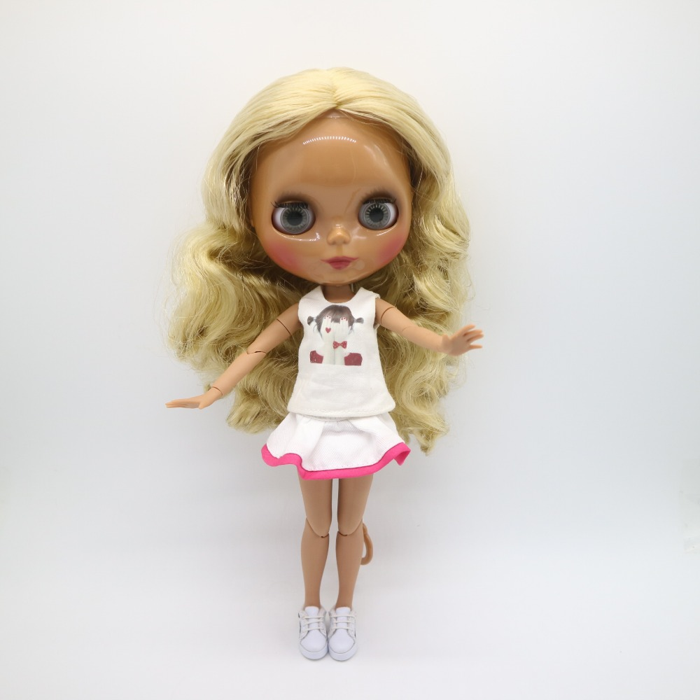 Joint body Nude blyth Doll red hair Factory doll Suitable