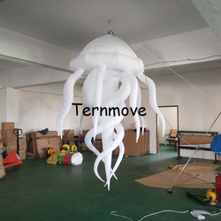 2pcs/lot , party night bar event inflatable decoration jellyfish with LED light medusa acaleph seajelly for advertising hanging