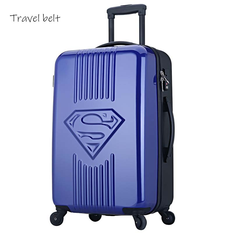 Travel Belt Super Hero Rolling Luggage Spinner High Capacity Fashion Carry On Travel Bags Password Cabin Suitcase Wheels