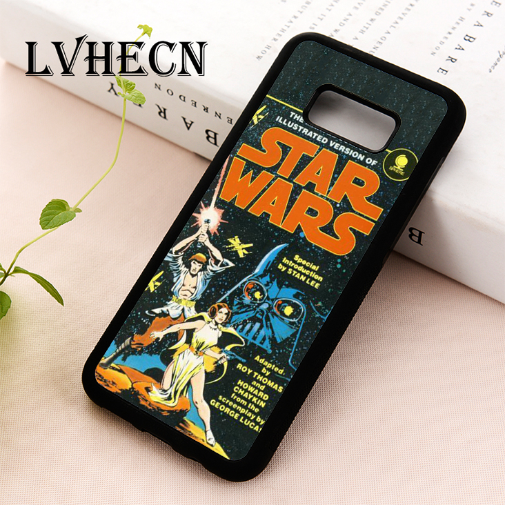 LvheCn TPU Skin phone case cover for Samsung Galaxy S5 S6 S7 S8 S9 S10 EDGE PLUS S10e lite Note 5 8 9 STAR WARS COMIC poster image