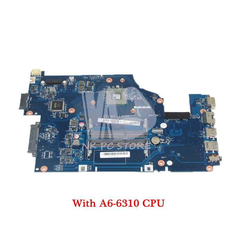 NOKOTION For Acer aspire E5-521 Laptop Motherboard A6-6310 CPU Onboard DDR3 NBMLF11004 NB.MLF11.004 Z5WAE LA-B232P MAIN BOARD wzsm original usb board with cable for acer aspire e5 521 e5 571 usb board ls b162p tested well