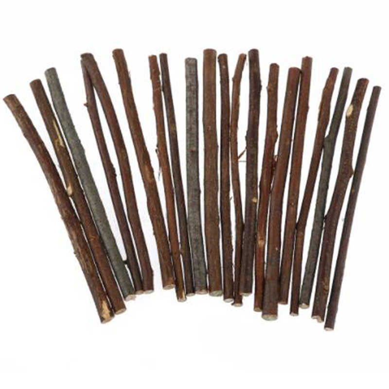 20pcs Long Wood Log Sticks DIY Crafts Photo Props For Home Garden Wedding Party Table Decoration Gift Wooden Strip DIY Material