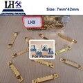 LHX PBYP68 100 unids/lote 7*42mm de Oro Barra de Colgar la Pintura Al óleo Foto Espejo Marco Ganchos Ganchos Con 200 tornillos