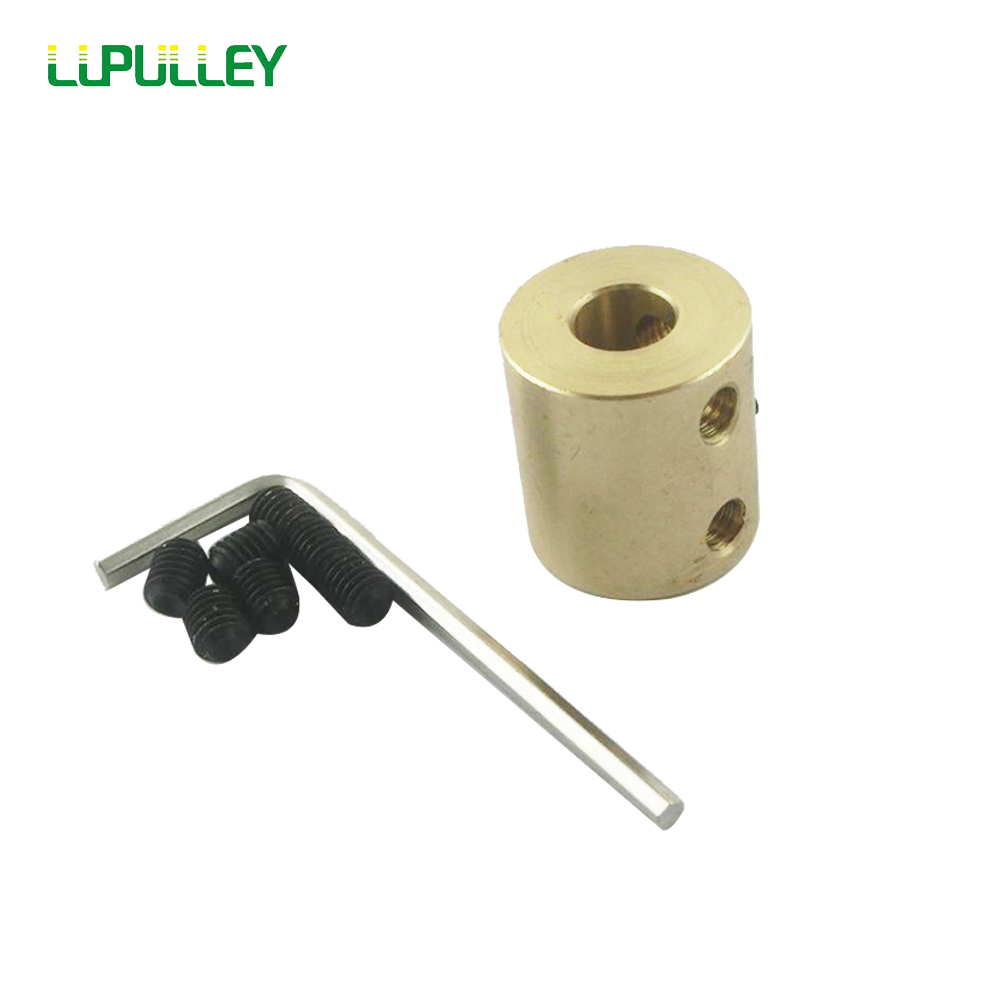 LUPULLEY 5/6/8/10mm to 10mm Inner Bore Diameter Brass Shaft Motor Rigid Coupling Coupler Width 16mm Length 22mm Hobby Hand Drill