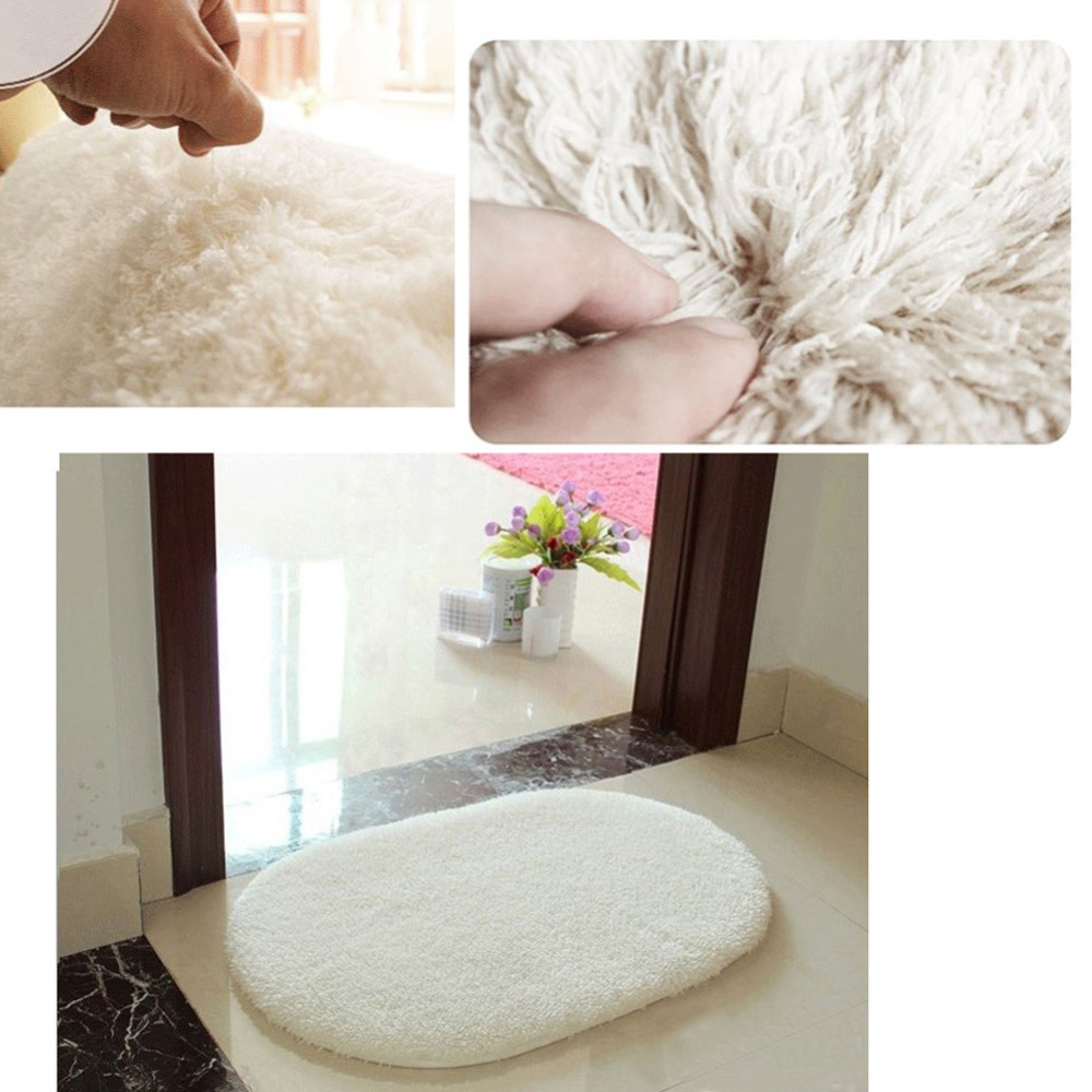 Bathroom Carpet Bath Mat Super Magic Slip-Resistant Pad Room Oval Carpet Floor Bedroom Mat 40x60cm