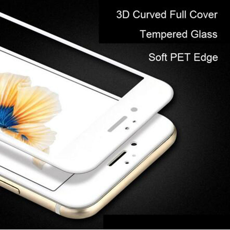 3D curved edge for iphone6s 8 full cover tempered glass for iPhone 7 S 6 6S 8 Plus Premium screen thickened glass