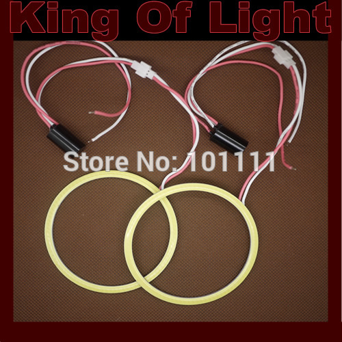 2X 90mm Angel Eye COB Halo Ring Halo Light Waterproof LED Lighting With 2 Lampshades free shipping