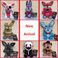 New Arrival Five Nights At Freddy's Plush Doll Toys FNAF 4 Freddy Bear Foxy Chica Bonnie Stuffed Toys Children Kids Gift