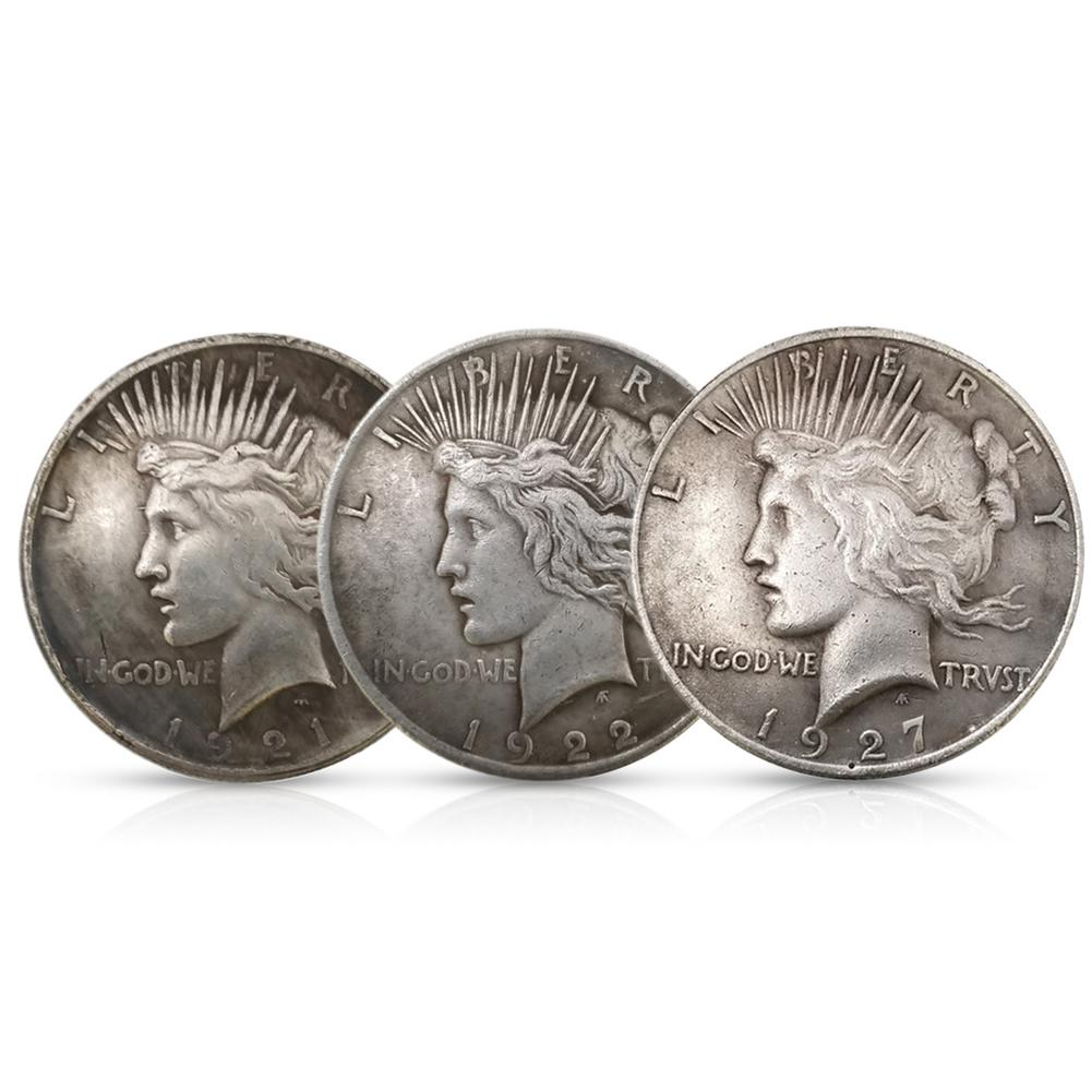1921 / 1922 / 1927 Statue Of Liberty And Peace Coin Silver Dollar Eagle Collection 38MM