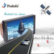 Podofo 7″ 2din Multimedia Player Autoradio Car Radio Android 2 Din Touch GPS Bluetooth Mirror Link Intelligent System MP5 Player
