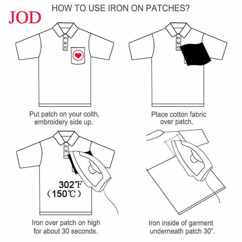 JOD 1 Pcs 9.5*10 Cm Setrika Biker Serigala Patch untuk Pakaian Stiker Pakaian Bordir Patch Bordiran rock Lencana Diy Dekorasi