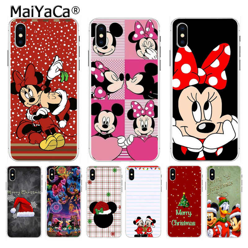 MaiYaCa Mickey Minnie Mouse Christmas new Year Top Phone case for iphone 11 pro 8 7 66S Plus X XS max 10 5S SE XR cover