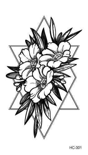 R14 41 De Descontohc300 339 Arte Do Corpo Preto Branco Desenho Pequeno Elemento Flores Pequenas Florais Ballet Transferência De água Temporária