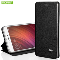 For Xiaomi Redmi Note 4 Case Mofi Water Cube Design Fit All Around Shock Resistant Leather