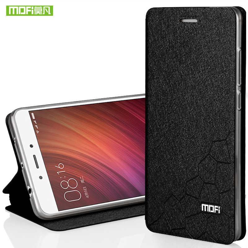 Xiaomi Redmi Note 4 case silicon cover luxury flip Leather global version Mofi Xiaomi Redmi Note 4 pro case hard wallet fundas