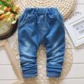 2017 Niños Del Otoño de los Bebés de Mezclilla Pantalones Vaqueros de Cintura Elástica Pantalones Casuales Niños Pantalones Largos