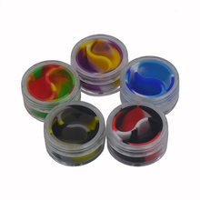 5pcs 10ml acrylic silicone jar Bho Silicone oil Container and Non Stick Slick oil Dab Wax Jar with Acrylic Transparent Case(China)