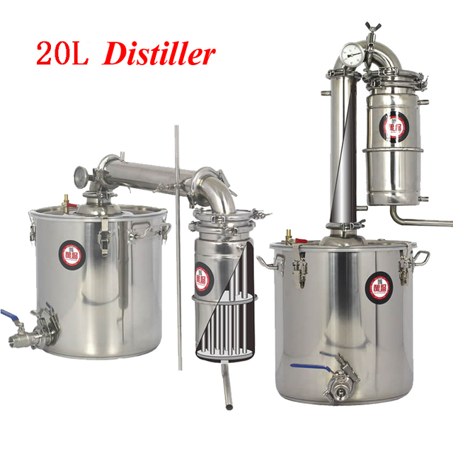 Household 20 L Stainless Steel Wine Brewing Machine Alcohol Vodka ...