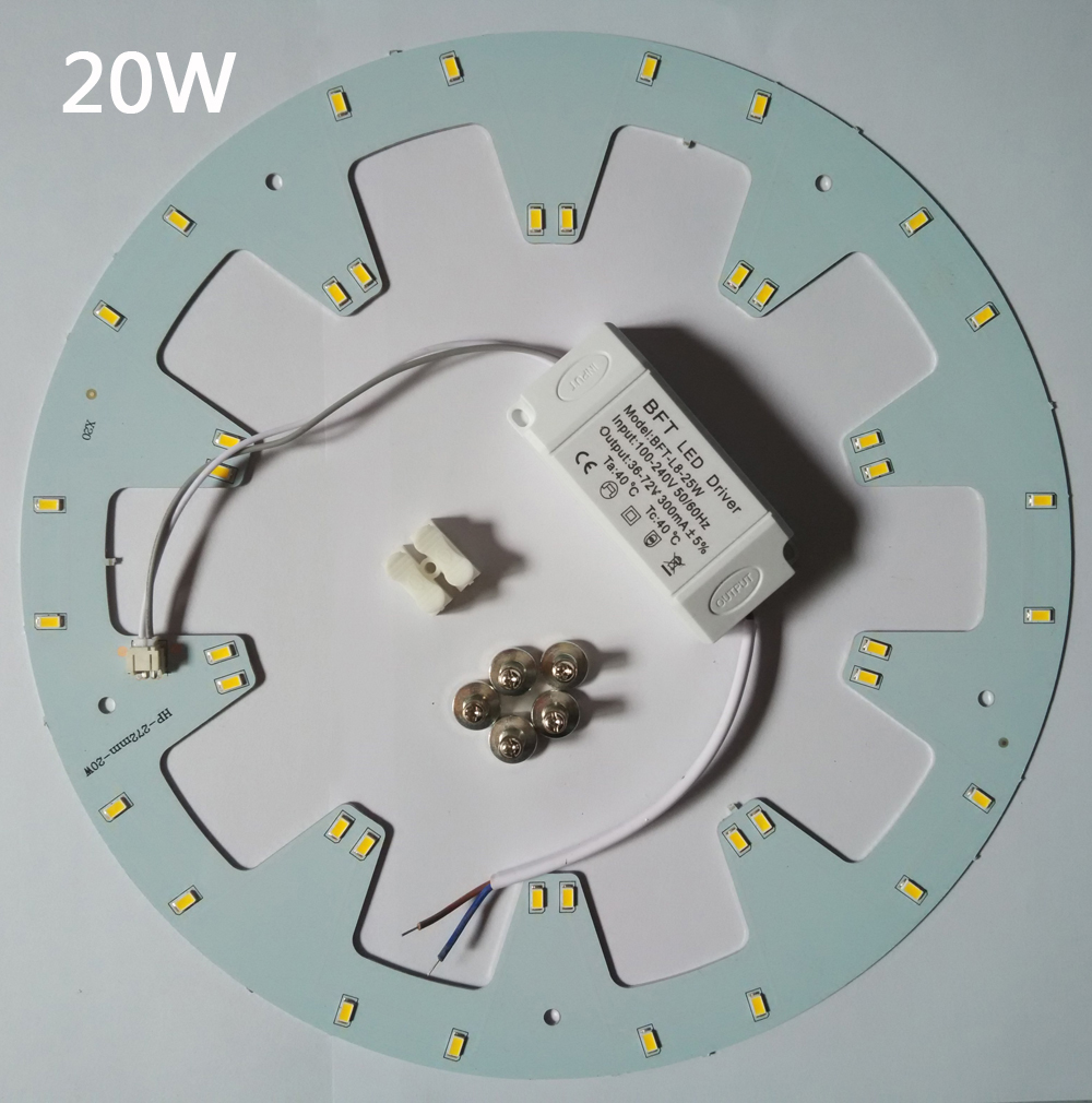 HOT! Free shipping LED PANEL Circle Light AC85-265V SMD5730 20w LED Round Ceiling board the circular lamp +power supply+Magnetic