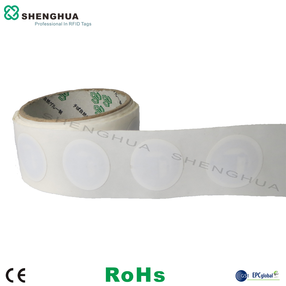 1000pcs/roll Diameter 30mm 13.56mhz NFC Rfid Sticker Tag FM08 Wet Inlay Chip Compatiable With Mi Fare S50 1K For Warehouse