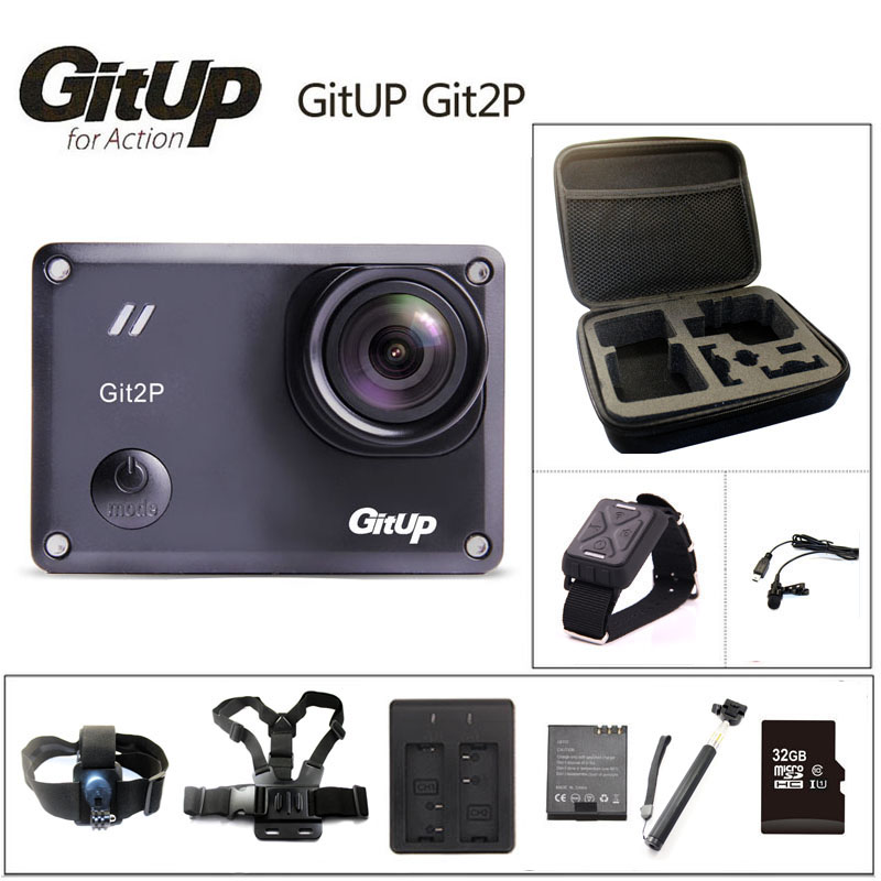 Original GitUP Git2P Action Camera 2K Wifi Sports DV PRO Full HD 1080P 30m Waterproof mini Camcorder 1.5 inch Novatek 96660 Cam image