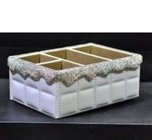 European-style diamond rhinestone desktop storage box Mobile phone stationery remote control cosmetics