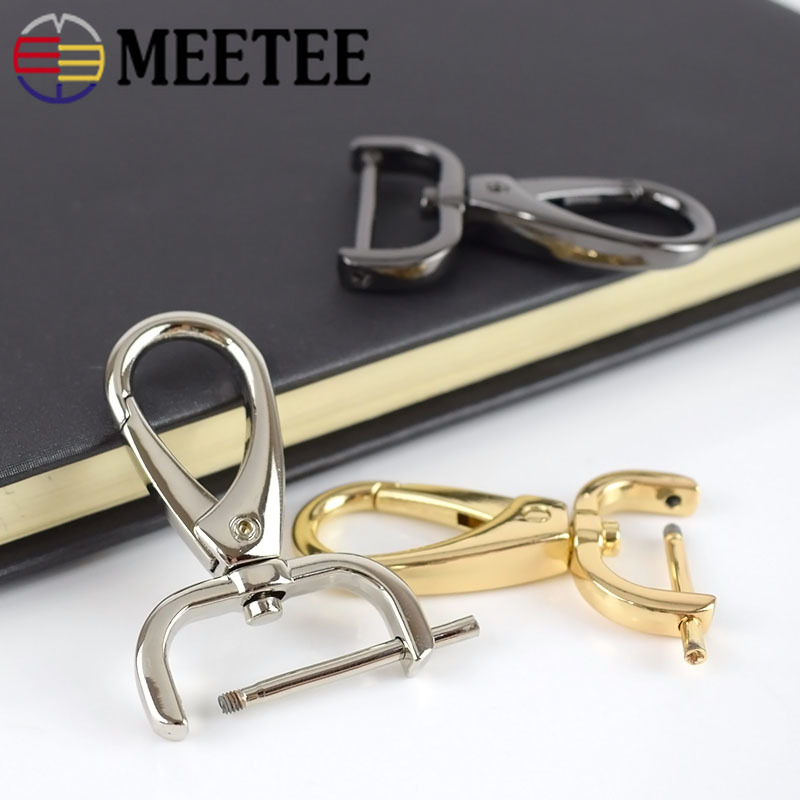 10pcs Meetee 16 20 25mm Metal Bags Dog Buckle Clasps HandBag Key Chain Buckle Movable Screw Hooks DIY Leather Sewing Accessories in Buckles Hooks from Home Garden