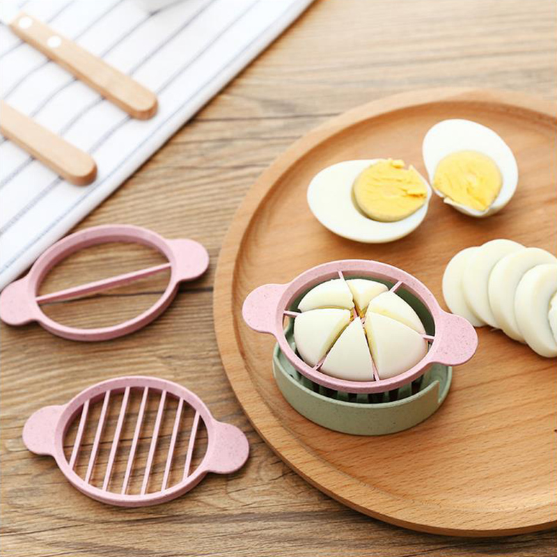 Multifunction Wheat Straw Cut Egg Slicers Tools Dividers Preserved Egg Splitter Cut Eggs Kitchen Essential Cooking