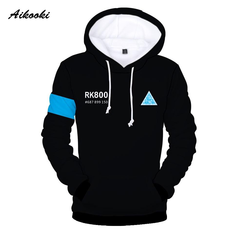Aikooki New Detroit Become Human Mens 3D Hoodies Coat Women/Man Hot Play Game Cap Autumn Winter Hoodies Sweatshirts 3D Clothing