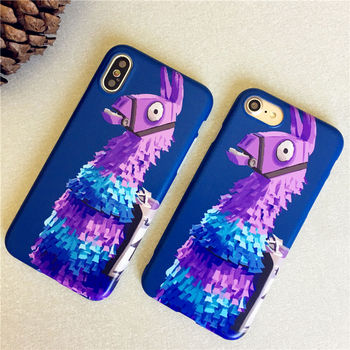 Luxury Brand Llama Fortnit Battle Royale Phone Cover For iPhone X Case Soft Matte Pinata llama Case for iPhone 7 8 6 6s