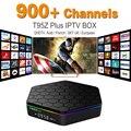 Europa Francés Árabe IPTV Canales Sky ES DE UK Androide 6.0 TV caja S912 T95ZPLUS Soporte Sport Canal Plus Francés Iptv Set Top Box