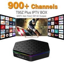 Europa Canales de IPTV Árabe Francés incluido Android 6.0 TV Box S912 T95ZPLUS Soporte Sport Canal Plus Francés Iptv Set Top caja