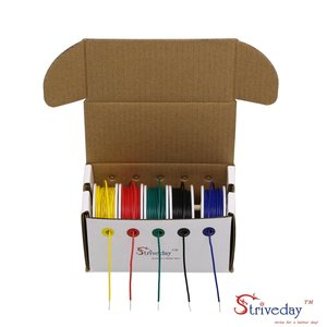 Image 4 - 20 22 24 26 AWG Hook Up Wire 1007 PVC Soild wire Kit box Electric wire 20 26 gauge 300V Cable (19.6ft Each Color)