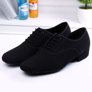 Image 5 - BD61 Professionale Nero Tacco 2.5 cm Oxford Piazza BD Scarpe Da Ballo sala da ballo Latino scarpe da ballo di cuoio degli uomini