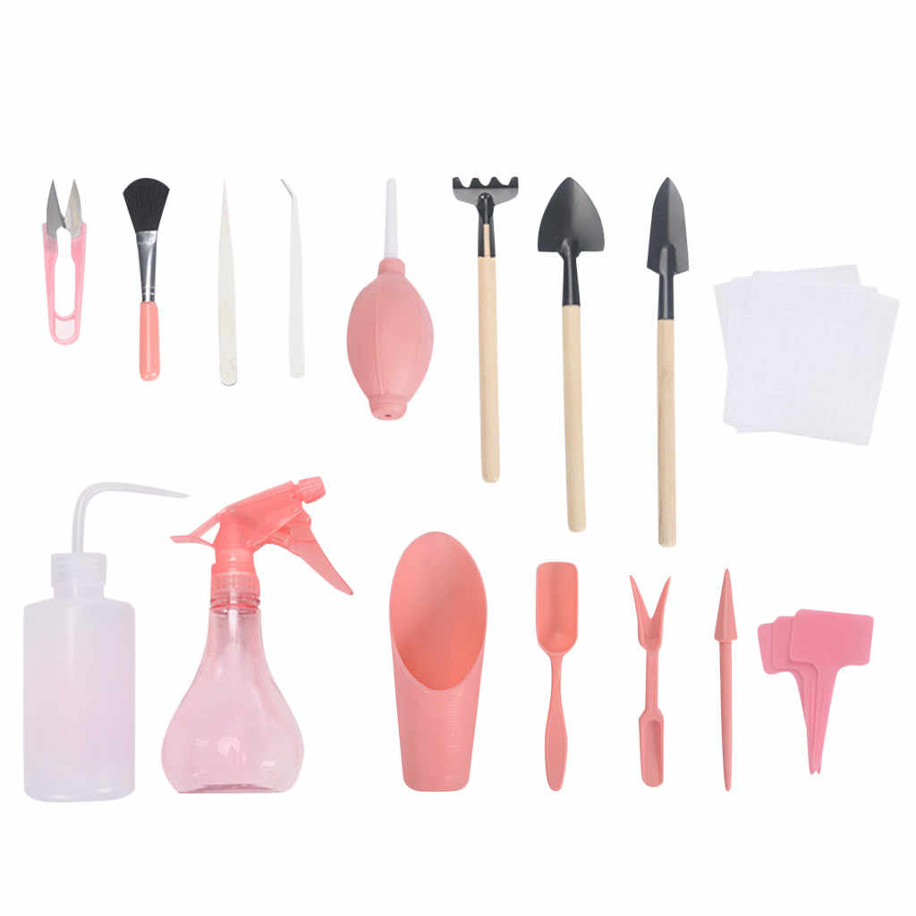 New Arrivals 16pcs Portable Mini And Lightweight Succulent Transplanting Miniature Garden Planting Gardening Hand Tools Set
