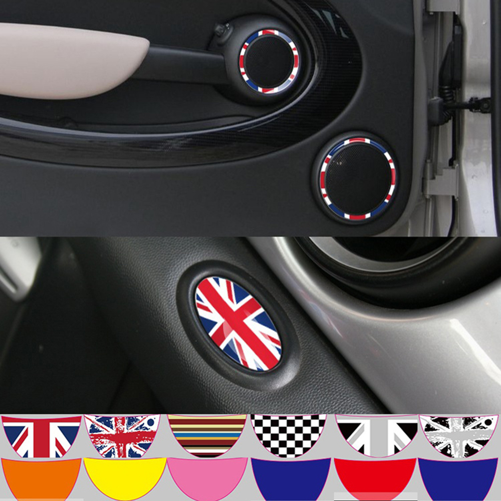 4 x mini stereo car stickers special stickers wholesale torx checkered flag stickers car stickers for