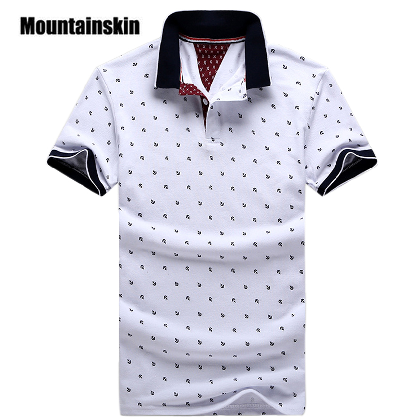 New Brand Polos Mens Printed POLO Shirts Cotton Short Sleeve Camisas Polo Casual Stand Collar Male Polo Shirt 5XL EDA234