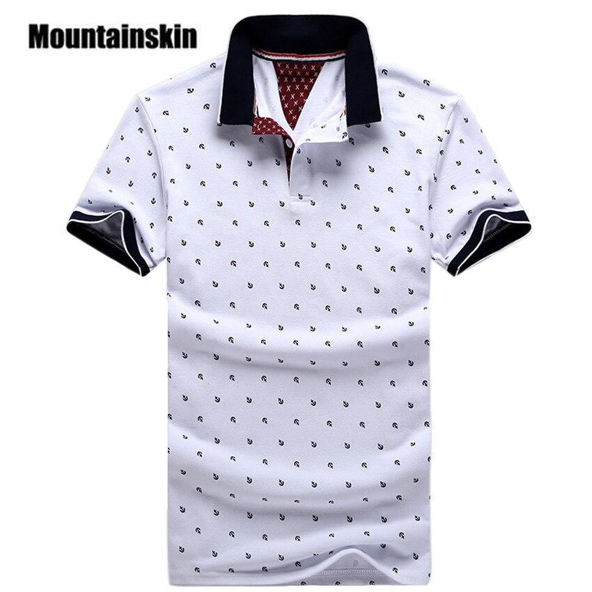 Nova Marca Polos Mens Impresso Camisas PÓLO de Algodão Estande Casuais Colarinho Masculino Camisa Pólo de Manga Curta Camisas Polo 5XL EDA234
