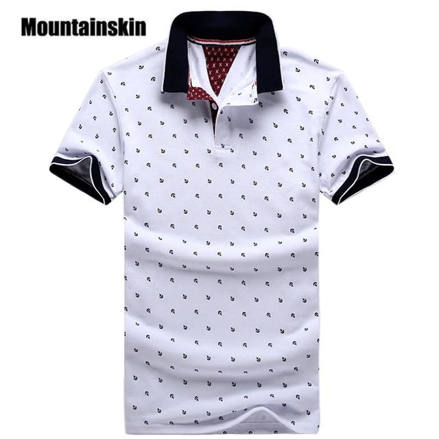 b4dff07ad4 Nova Marca Polos Mens Impresso Camisas PÓLO de Algodão Estande Casuais  Colarinho Masculino Camisa Pólo de
