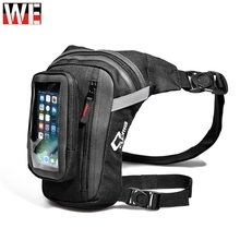 CUCYMA Motorcycle Drop Leg Bag Motorbike Riding Knight Waist Fanny Pack with Touch Screen Phone