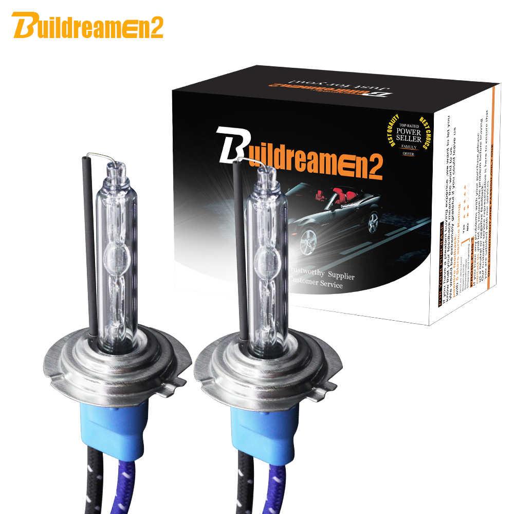 Buildreamen2 55W 10000LM /Pair High Bright AC HID Xenon Bulb Lamp H1 H3 H7 H8 H11 9005 HB3 9006 HB4 For Car Headlight Fog Light