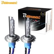 Buildreamen2 55 W 10000LM/пара Высокий яркий переменный ток Газоразрядная Ксенон лампа H1 H3 H7 H8 H11 9005 HB3 9006 HB4 для автомобильных фар противотуманных фар