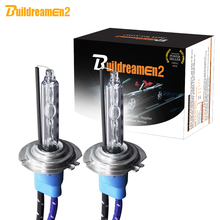 Buildreamen2 55 Вт 10000LM/пара высокого яркий AC ксеноновые лампы накаливания H1 H3 H7 H8 H11 9005 HB3 9006 HB4 для автомобильных фар противотуманных фар