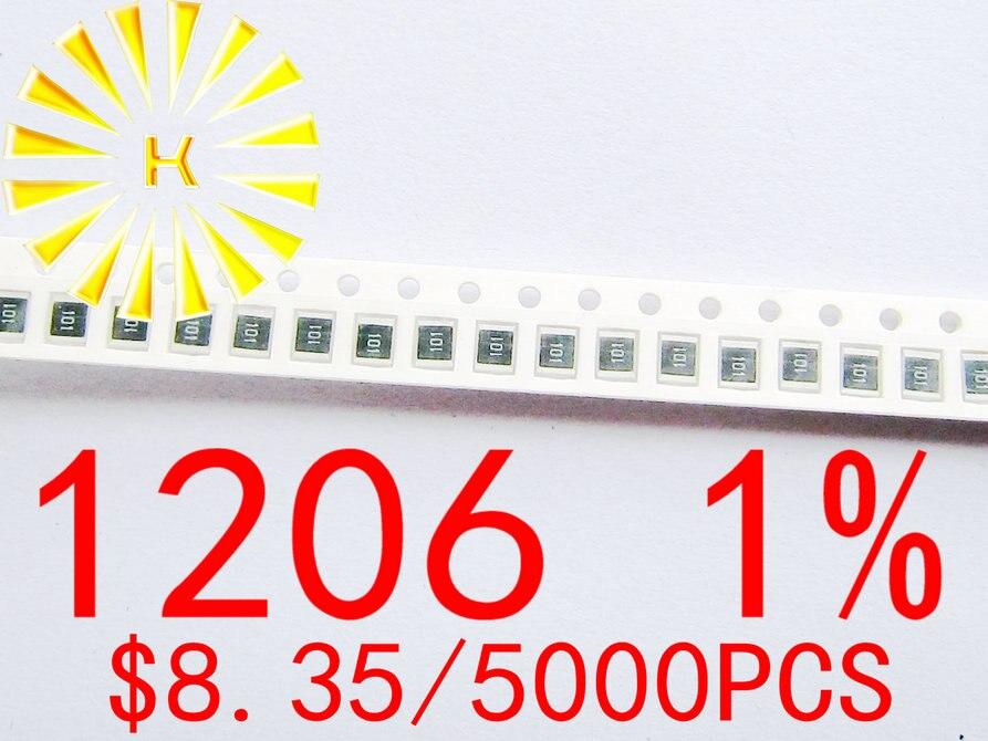 1206 1% чиповые резисторы 0,1-5000 R 1R-10M 1/4 Вт SMD резистор x шт.