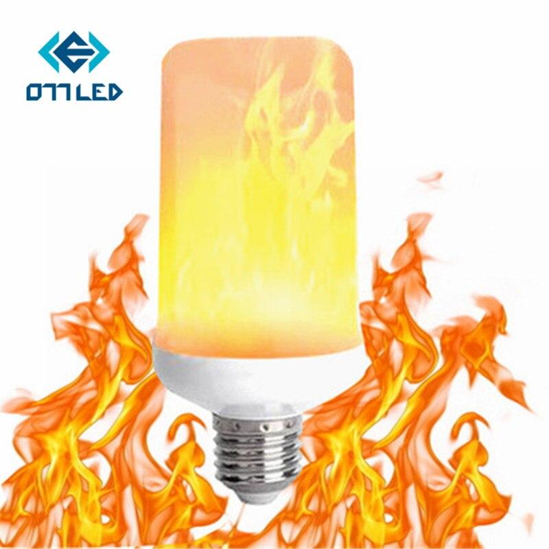 Kreatywny 3 tryby + czujnik grawitacji płomień światła E27 2835 LED efekt płomienia lampka imitująca ogień migotanie emulacji lampa dekoracyjna AC90-265V - aliexpress