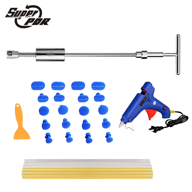 Super PDR slide hammer glue gun glue sticks dent repair tools dent lifter car dent removal tool set 29pcs super pdr slide hammer glue gun glue sticks dent repair tools dent lifter car dent removal tool set 29pcs